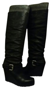 Vera Wang Black Leather Boots