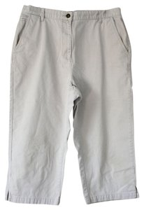 Christopher & Banks Cotton Machine Wash Capris Light beige