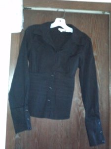 Charlotte Russe Button Down Shirt black