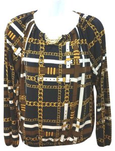 Michael Kors Stretchy Toggle Top brown/yellow/black/white