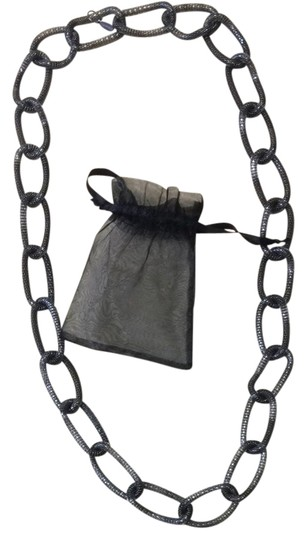 Lisa Freeds Necklace Blk/Silver