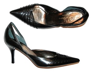 Cole Haan Leather D'orsay Evening Black Pumps