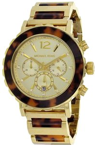 Michael Kors Nwt Michael kors womens tortoise and gold tone watch BU5790