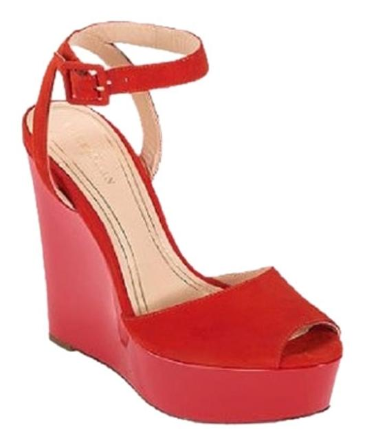 Item - Red Womens Air X Jen & Oli Mary Jane Platform #d40240 Suede Wedges Size US 8 Regular (M, B)