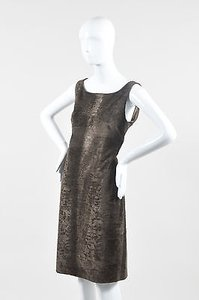 S Max Mara Faux Fur Dress