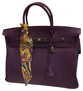 Hermès Kelly Birkin 35 Louis Vuitton Chanel Satchel in Violet