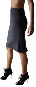 Prada Pencil Wool Cashmere Madein Italy Skirt gray