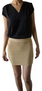 Hera Clothing Ltd. High-waisted Chic Ultra Mini Mini Skirt gold