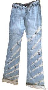 Boot Cut Pants light blue denim