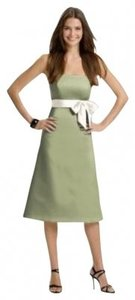 Alfred Sung Length Strapless Satin New With Tags Dress