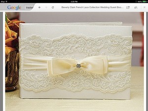 Beverly Clark Ivory Lace French Collection Guest Book Reception Decoration
