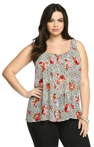Torrid Brand New W/ Tags Tulip Back 2x 18/20 Top Floral Animal
