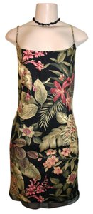 Muse short dress black Floral Spaghetti Strap on Tradesy