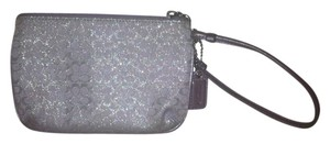 Coach Wristlet in purple and silver