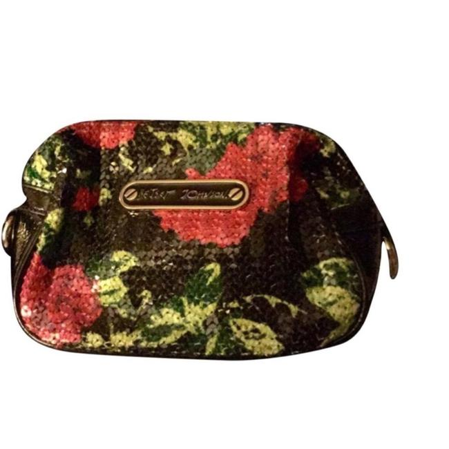 Item - Black Pink and Green Cosmetic Bag