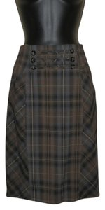 Katherine Barclay Pencil Lined Brown Skirt Brown, black and grey