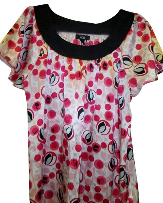 Preload https://item1.tradesy.com/images/agb-pink-xl-short-sleeve-blouse-size-16-xl-plus-0x-1120720-0-2.jpg?width=400&height=650