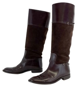 Gucci Brown Suede Riding Boots