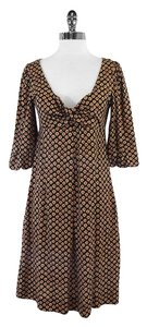 Diane von Furstenberg short dress Black Red Tan Print on Tradesy