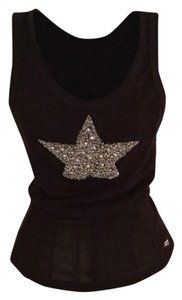Twisted Heart Top Brown and silver beading