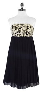Lilly Pulitzer short dress Gold Black Strapless on Tradesy
