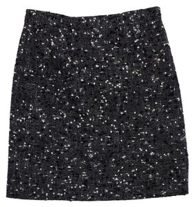 Emanuel Ungaro Grey Black White Tweed Skirt