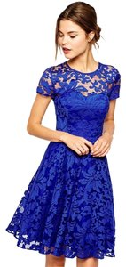 short dress Royal blue New Bodycon Lace on Tradesy