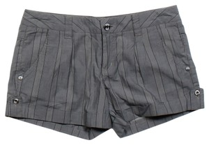 Joie Striped Cuffed Shorts Grey
