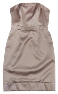 Badgley Mischka short dress Champagne Strapless on Tradesy
