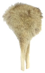 White Russian Style Coyote Fur Winter Hat