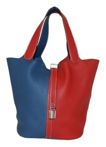 Hermès Tote in Blue and Red