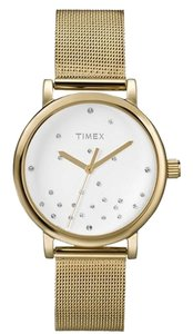 Timex ON SALE w/BONUSES-Stainless Steel Mesh Bracelet Watch with Crystals