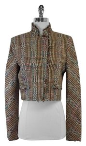 Theory Multi Color Tweed Cropped Jacket