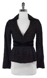 Nanette Lepore Brown Black Satin Blazer