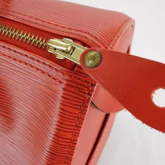 Louis Vuitton Vintage Leather Satchel in Red
