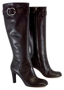 Gucci Brown Leather Knee High Boots