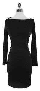 Dsquared2 short dress Black Wool Bodycon on Tradesy