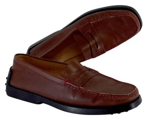 Tod's Brown Leather Loafers Flats