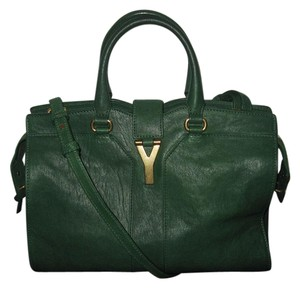 Saint Laurent Cabas Chyc Ysl Satchel in Green