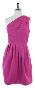 Halston short dress Pink Textured One One on Tradesy