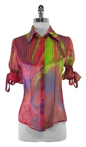 Robert Rodrigues Semi Sheer Silk Top
