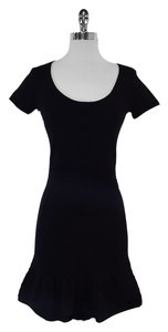 Sandro short dress Black Cotton Short Sleeve on Tradesy