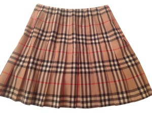 Burberry Skirt Black, camel, and red