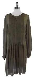Antik Batik Olive Long Sleeves Silk Dress