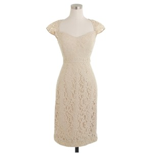 J.Crew Champagne Tinsley In Leavers Lace Dress
