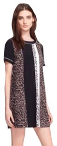 Elizabeth and James short dress Multi Montana Leopard Cheeta Silk on Tradesy