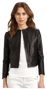 Vince snap front leather jacket Blac Leather Jacket