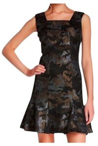 Anna Sui Shimmer Camo Camouflage Jacquard Dress
