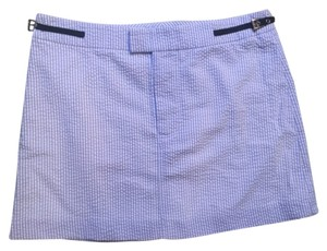 Tibi Mini Skirt white, blue