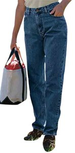 L.L.Bean Medium Tall Comfort Waist New Without Tags Tapered Leg Relaxed Fit Jeans-Dark Rinse